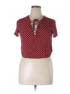 Cotton Candy LA Short Sleeve Blouse Size L