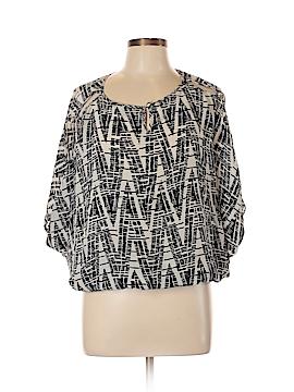 Dora Landa 3/4 Sleeve Silk Top Size L