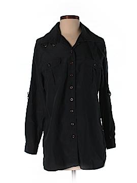 Soft Surroundings Long Sleeve Silk Top Size S (Petite)