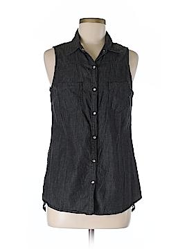 Ali & Kris Sleeveless Button-Down Shirt Size M