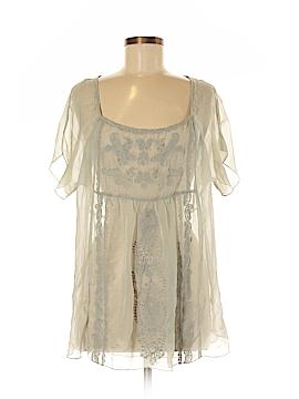 Love & Liberty Short Sleeve Silk Top Size M