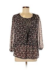 Black Rainn Women 3/4 Sleeve Blouse Size M