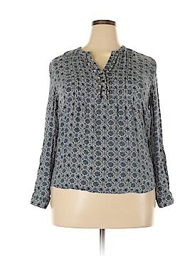 Roz & Ali Long Sleeve Blouse Size XL