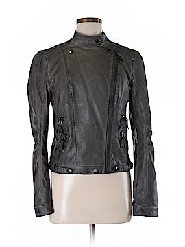 Blu Pepper Faux Leather Jacket Size M