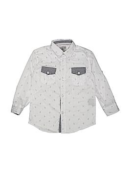 LR Scoop Long Sleeve Button-Down Shirt Size 4T