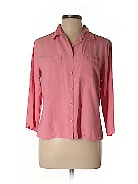 Anne Carson 3/4 Sleeve Silk Top Size L