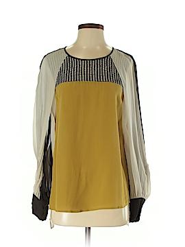 BCBGMAXAZRIA Long Sleeve Silk Top Size XS