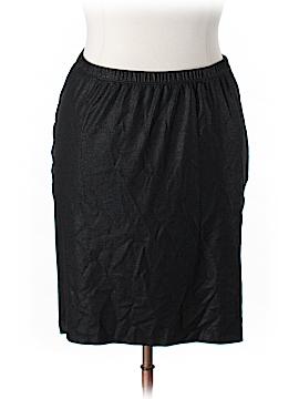 Karen Kane Faux Leather Skirt Size 0X Plus (Plus)