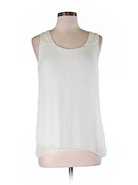 Prontomoda Giusy Sleeveless Silk Top Size M