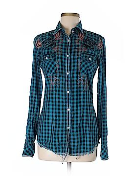 Roar Long Sleeve Button-Down Shirt Size M