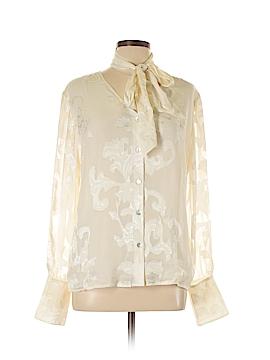 St. John Long Sleeve Silk Top Size 14