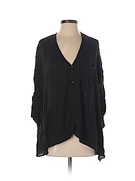 Caribbean Queen Long Sleeve Button-Down Shirt Size S