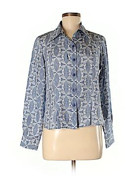 Pendleton Long Sleeve Silk Top Size 6 (Petite)
