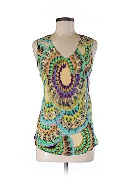 Tianello Sleeveless Silk Top Size M
