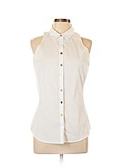 New York & Company Women Sleeveless Button-Down Shirt Size M