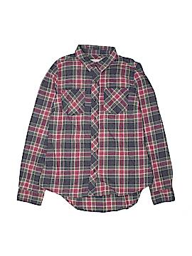 Girl Krazy Long Sleeve Button-Down Shirt Size M