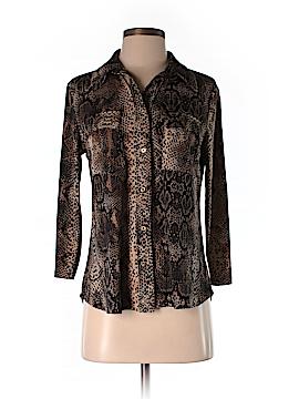 Ellen Tracy 3/4 Sleeve Button-Down Shirt Size S