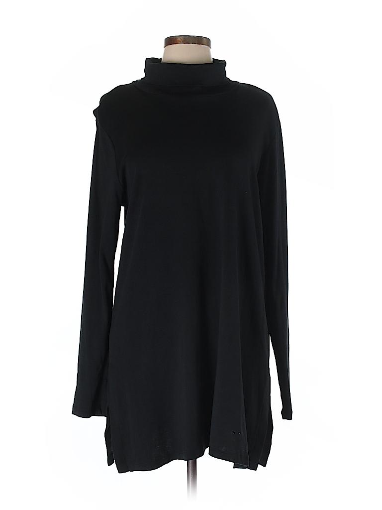 J.jill Women Long Sleeve Turtleneck Size L (Tall)