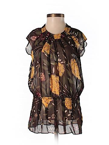 Christiane Celle Short Sleeve Silk Top Size XS