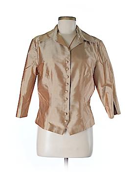 Marisa Baratelli 3/4 Sleeve Silk Top Size 10