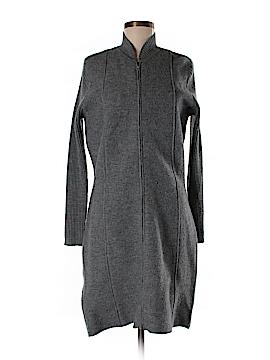 August Silk Wool Coat Size M