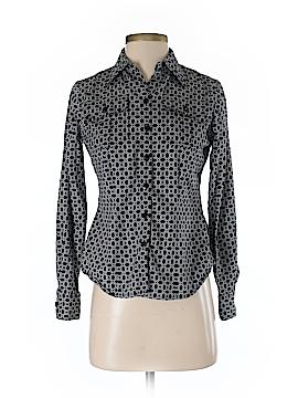 AK Anne Klein Long Sleeve Button-Down Shirt Size 2 (Petite)