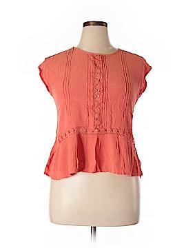 Daniel Rainn Short Sleeve Blouse Size L