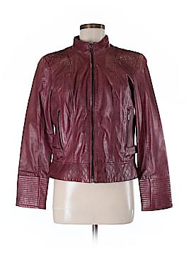 Johnston & Murphy Leather Jacket Size M