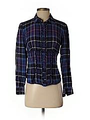 Jones New York Sport Women Long Sleeve Button-Down Shirt Size M (Petite)