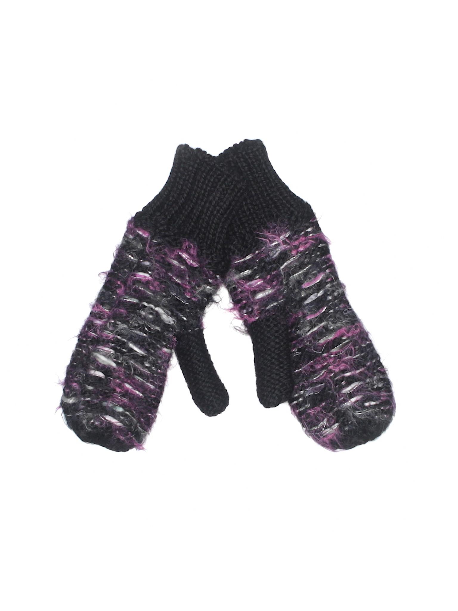 701fe2d9b397d Mudd Print Black Mittens One Size - 58% off