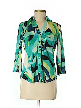 Venini 3/4 Sleeve Button-Down Shirt Size S