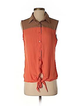 THML Sleeveless Button-Down Shirt Size S