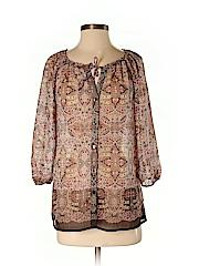 Liz Claiborne Women 3/4 Sleeve Blouse Size S (Petite)