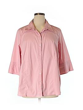 Venezia 3/4 Sleeve Button-Down Shirt Size 28 - 26 Plus (Plus)