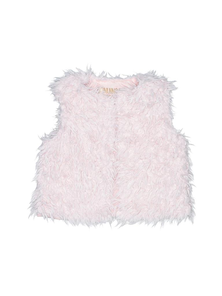 68c52ee5c Genuine Kids from Oshkosh 100% Polyester Light Pink Faux Fur Vest ...