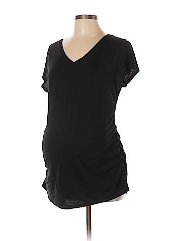 Liz Lange Maternity Short Sleeve T-Shirt Size L (Maternity)