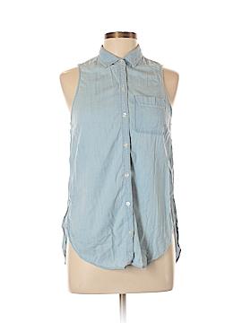 Hollister Sleeveless Button-Down Shirt Size L
