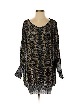 Custo Barcelona Long Sleeve Silk Top Size S