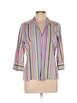 Jamaica Bay 3/4 Sleeve Button-Down Shirt Size L