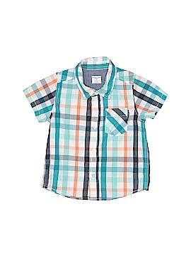 Polarn O. Pyret Short Sleeve Button-Down Shirt Size 9-12 mo