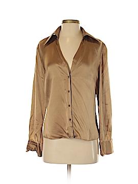 Ann Taylor Long Sleeve Silk Top Size 8
