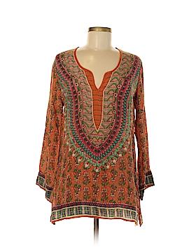Tolani Long Sleeve Silk Top Size S