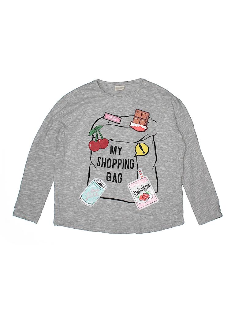 b7813efd3 Zara Kids 100% Cotton Gray Long Sleeve T-Shirt Size 11 - 12 - 92 ...