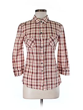 Patterson J. Kincaid Blue Label 3/4 Sleeve Button-Down Shirt Size S