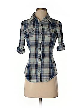 Magazine Long Sleeve Button-Down Shirt Size S
