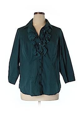 Eloquii 3/4 Sleeve Blouse Size 16 (Plus)