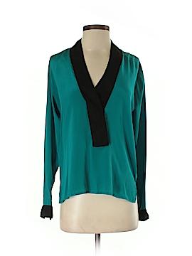 Karina Grimaldi Long Sleeve Silk Top Size XS