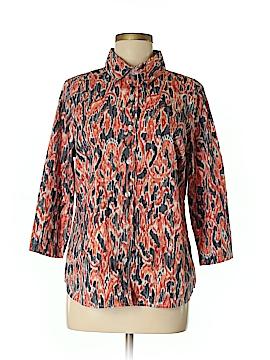 Breckenridge 3/4 Sleeve Button-Down Shirt Size M