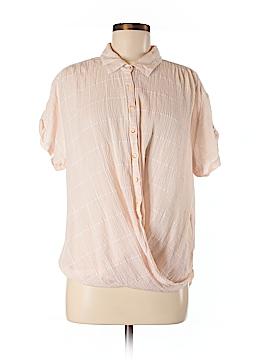 Isabella Sinclair Short Sleeve Button-Down Shirt Size M