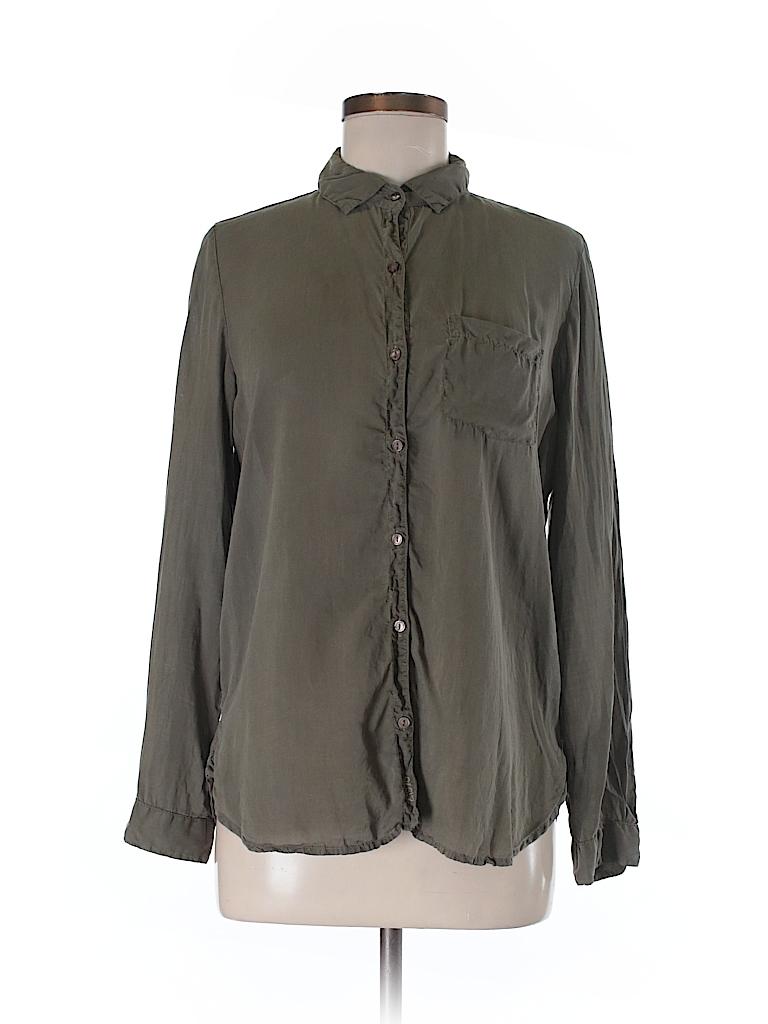 da4206f3 Zara Basic Dark Green Long Sleeve Button-Down Shirt Size M - 88% off ...